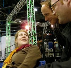 Im Gespräch mit Verena Schäffer MdL und dem grünen Landesvorsitzenden Sven Lehmann