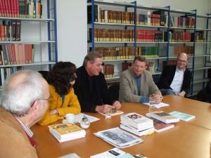 Im Archiv der Geschichte der Arbeiterbewegung in Bochum mit u.a. Dr. Frithjof Schmidt MdB und Jean François Caron, grüner Bürgermeister im französischen Nord Pas de Calais
